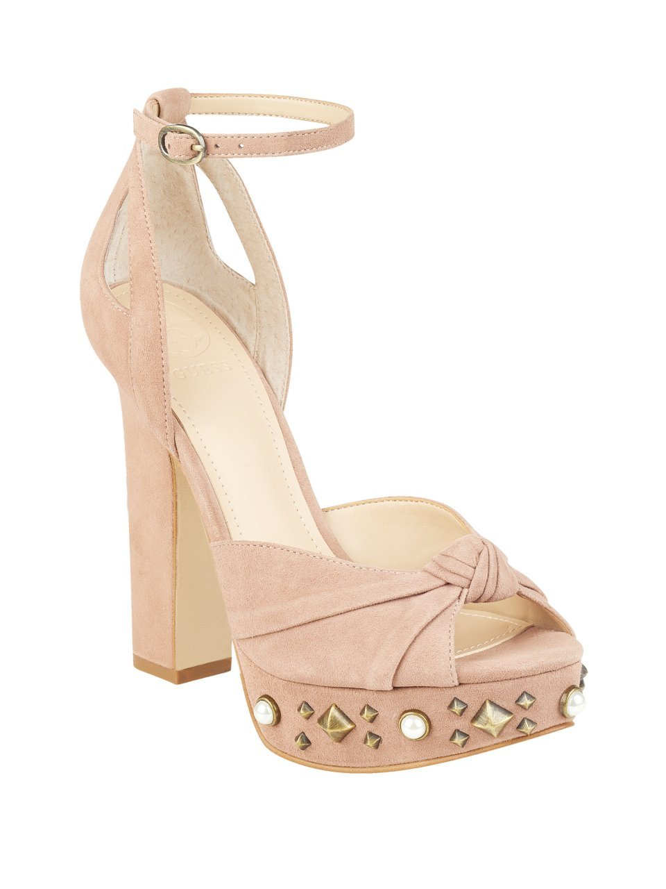 GUESS Womens Kenzie B0719LHTDJ 9 B(M) US|Blush Suede