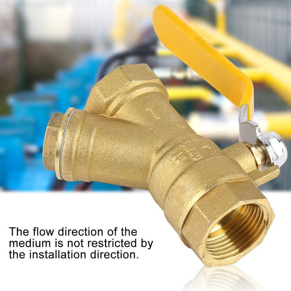 Robinet /à tournant sph/érique de filtre en laiton de filtre de connexion en Y de 3//4filetage femelle de BSPP pour la s/éparation de leau de gaz naturel