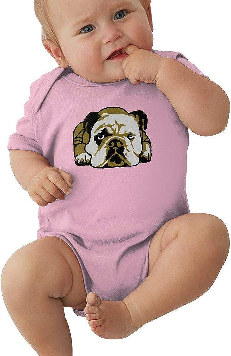 FOECBIR Angry English Bulldog Baby Girl Boy Jersey Bodysuit Short-Sleeve Jumper