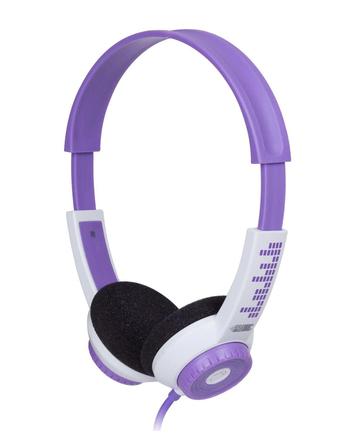 e29edd472fb Amazon.com: FSL Protec Kids Headphones with Adjustable Volume Limiting  (Purple): Home Audio & Theater