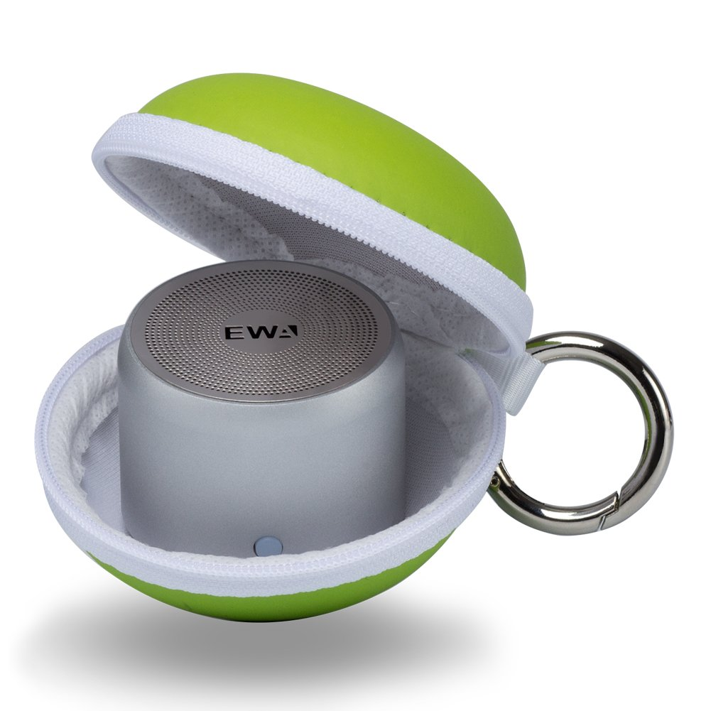 EWA A106 Portable Mini Bluetooth Speaker with Passive Radiator, Powerful Sound, Enhanced Bass, Tiny Body Loud Voice, Perfect Wireless Speaker For Shower, Travel, Outdoor, Echo Dot, Hiking and More by Ewa (Image #7)