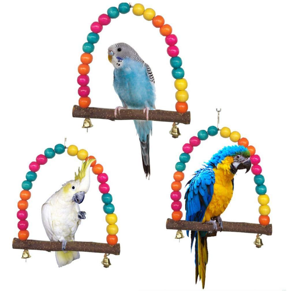 TOSSPER 1pcs Loro Colorido Columpio Jaula de pájaros Juguetes ...