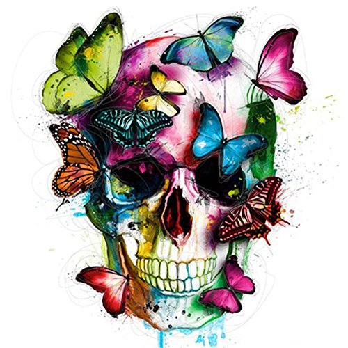 Diamond Painting Full Square 5D DIY Drill Butterfly Skull Cartoon Rhinestone Embroidery Arts Craft Paint-by-Number Kits Cross Stitch for Home Wall Decoration 12X16 inches (Butterfly Skull) by Eswala