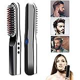 コードレスアンチスカルド自動で毛矯正ブラシ旅行/家、男性の女性のための1の2つの多機能の毛の櫛のカーリングアイロン