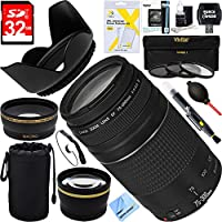 Canon EF 75-300mm F4-5.6 III Lens + 32GB Wide-Angle & Telephoto Ultimate EOS Lens Kit
