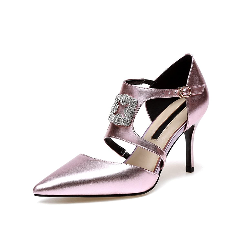 69e31801c87 De alta calidad Sandalias De Mujer Zapatos De Tacón Alto Zapatos De Cuero Pedrería  Zapatos De