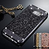ZCDAYE Case for Samsung Galaxy S6,Bling Glitter [Crystal Rhinestone Diamond] Soft TPU Rubber Silicone [Electroplating Edge] Shockproof Cover for Samsung Galaxy S6 - Black