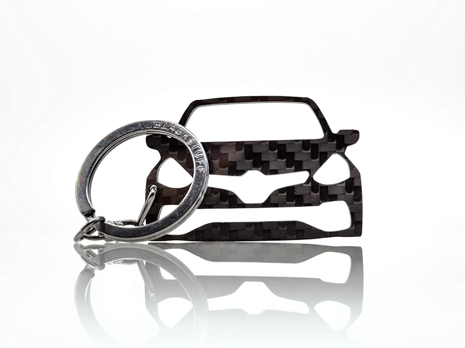 BlackStuff Carbon Fiber Keychain Keyring Ring Holder Compatible with Clio IV Sport RS 2012-2019 BS-664