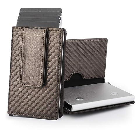 5187f89660 Fabonka Porta Carte con clip Porta Banconote Carte Di Credito, Portafoglio  Clip, Porta Carte