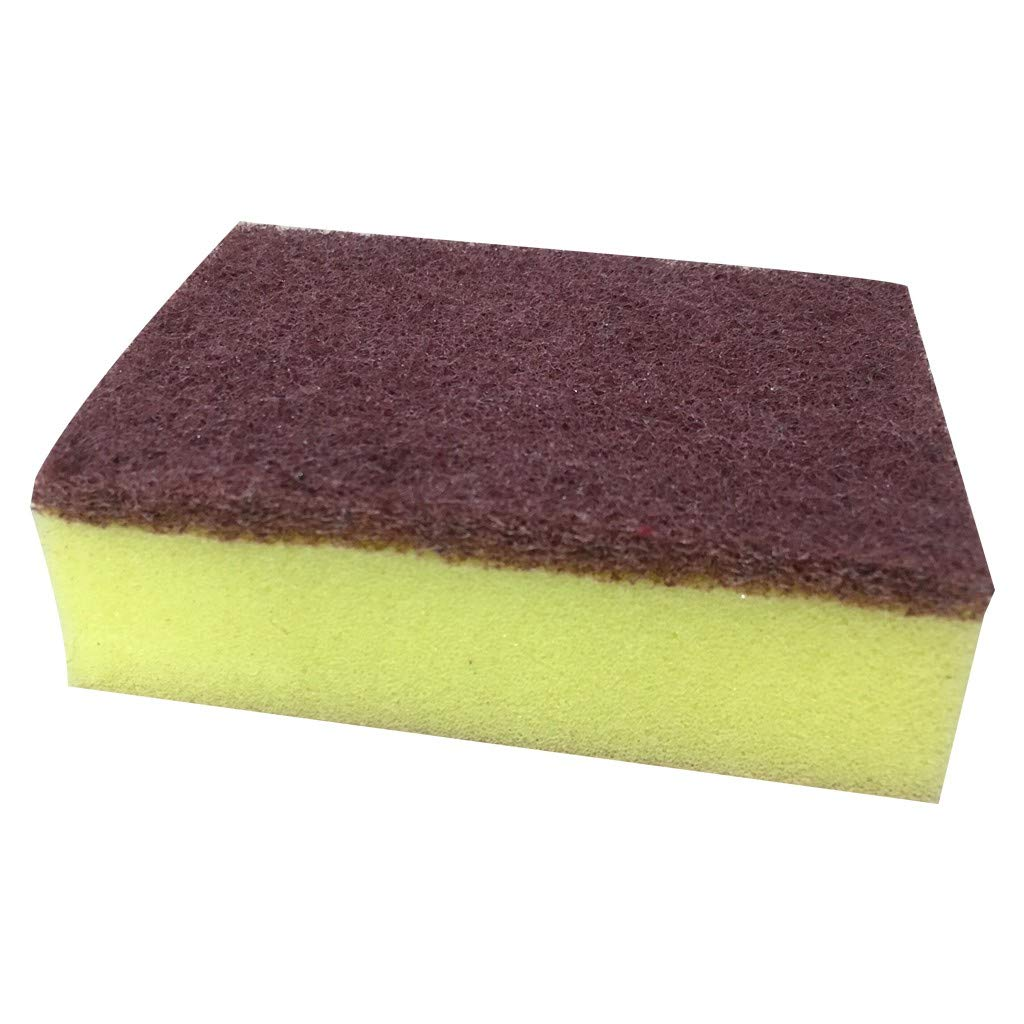 Pet1997 Kitchen Cleaning Nano Sponges, High-density Dishwashing Sponge, Brown Double-sided Powerful Decontamination Cloth Cleaning Sponge Magic Wipe, Washable and Reusable (Coffee)