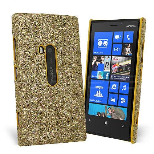 Celicious® Slender G - Hülle Glänzende Glitzer-Handyschale für Nokia Lumia 920 - Gold
