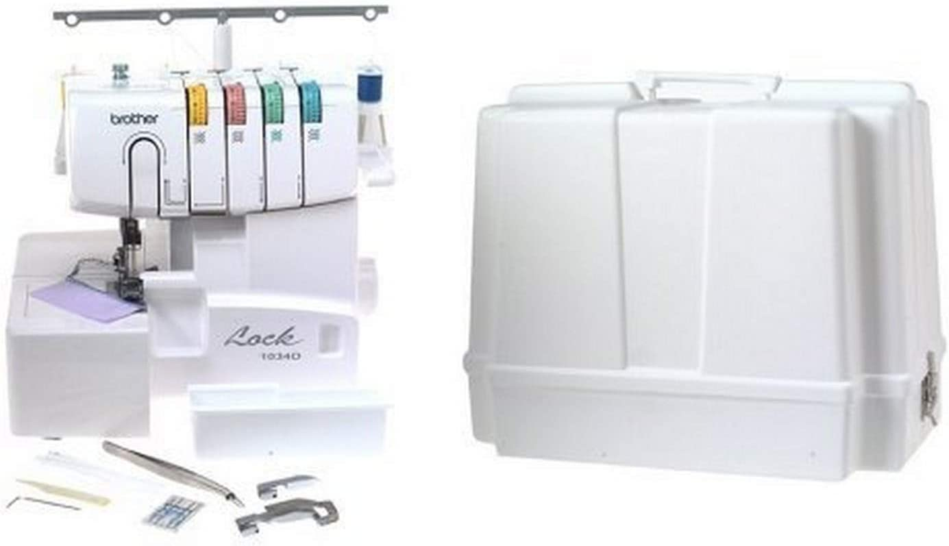 Brother 1034D 3/4 Thread Serger with Differential Feed and Brother 5300 Universal Sewing Machine Carrying Case
