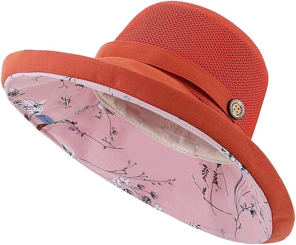 Xiang Ru UVカット帽子 日よけ帽子 バケットハット 漁師の帽子 帽子 ハット レディース オシャレ 旅行 ビーチ つば広 カジュアル 通気 夏 日焼け止め 紫外線防止