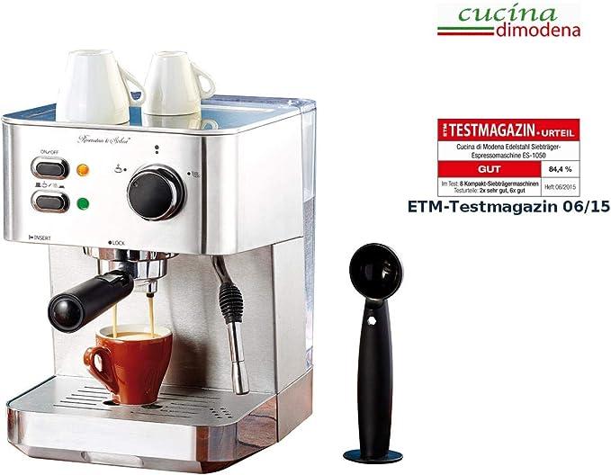 Cucina di Modena Acero Inoxidable portafiltros – Cafetera espresso ...