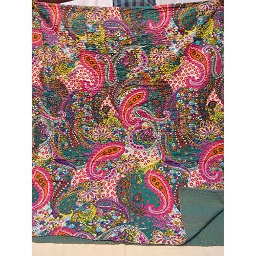 couvre lit boheme Tribal Asian Textiles 007 Kantha Couvre lit à motifs Paisley  couvre lit boheme