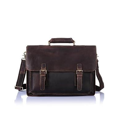 50%OFF Business Bag, Hometom Leather Messenger Bag Business Bag Briefcase Laptop Case
