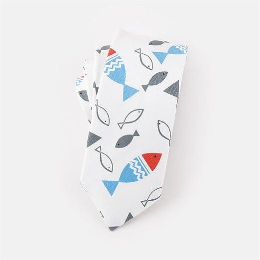 BOROMOMO - Corbata para Hombre, diseño de Peces con Dibujos ...