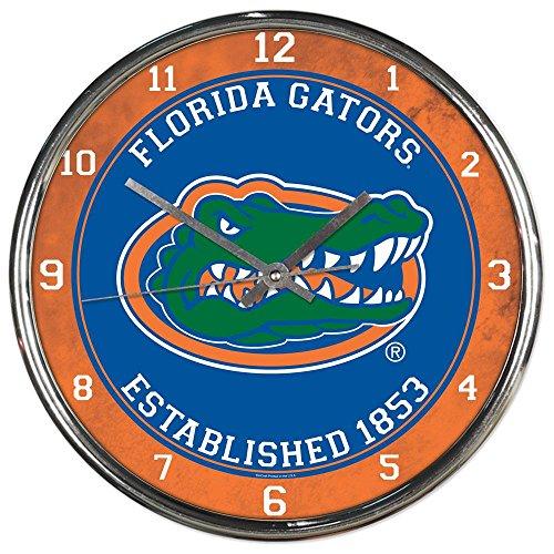 - Florida Gators Tide NCAA 12 Inch Round Chrome Plated Wall Clock