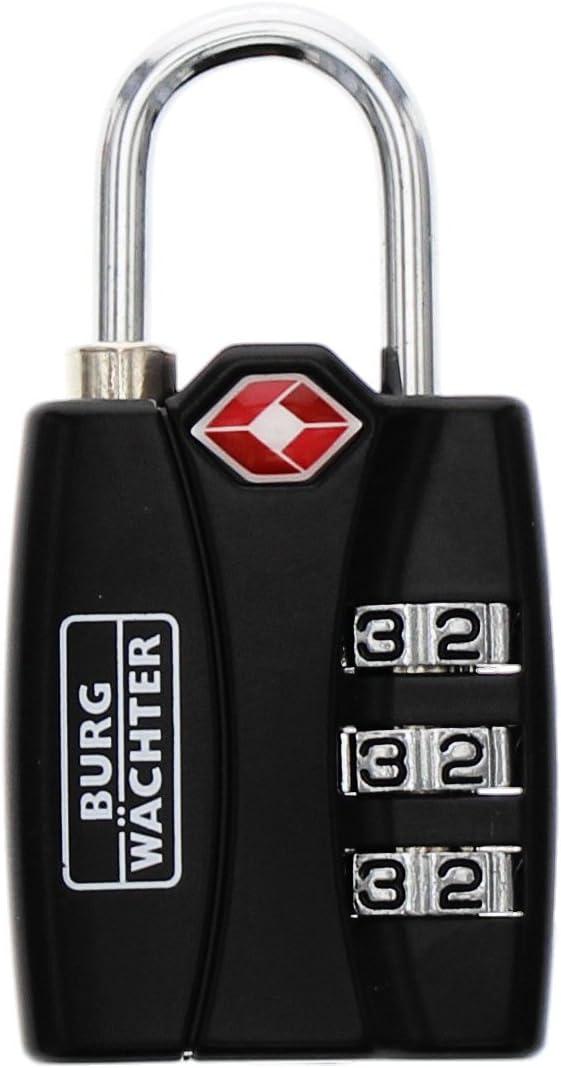TSA 78/30/SB Cadenas de s/écurit/é /à Combinaison BURG-W/ÄCHTER 32991 Noir