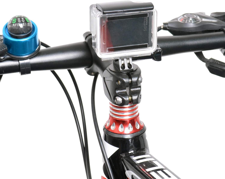 Kit de montaje para cámara de acción 9 en 1, soporte para sillín de bicicleta de aleación de aluminio, soporte para sillín de bicicleta compatible con GoPro Hero 7/6/5/4/3/3+/cámara de acción DJI