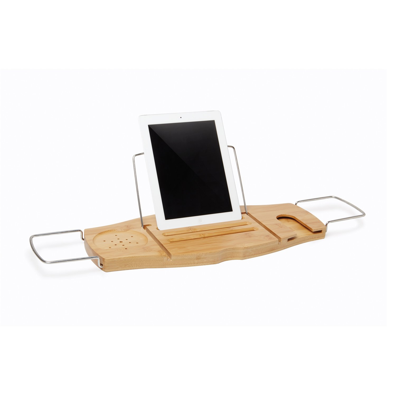 Amazon.com: Umbra Aquala Bamboo and Chrome Bathtub Caddy: Home & Kitchen