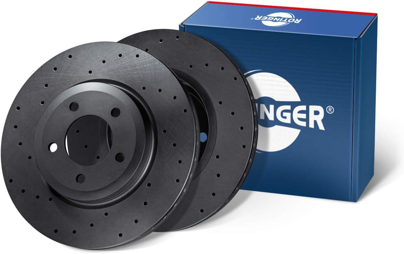 RT 20208HP-GL//T3 Hinterachse, 2-teiliges Set Korrosionsschutzbeschichtung High Performance ROTINGER Bremsscheiben,