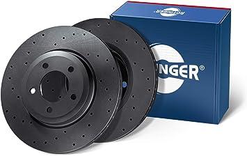 Essieu arri/ère, Ensemble de 2 pi/èces RT 0298-GL//T6 ROTINGER Disques de frein, Avec rev/êtement anti-corrosion