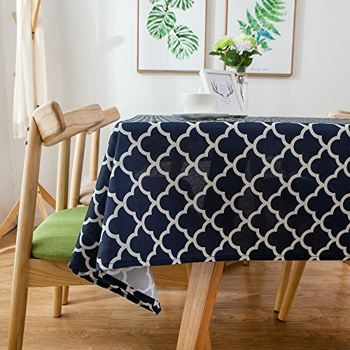 Lamberia Tablecloth Waterproof Spillproof Polyester Fabric Table Cover for Kitchen Dinning Tabletop Decoration, 60