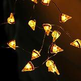 MUMENG String Light LED Pizza Shape 20 LEDs Silver