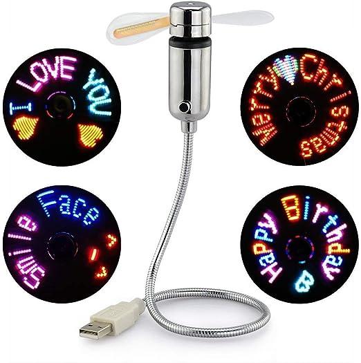 mini usb fan+led lamp tablet power bank plug in summer cooler gadgets pack C058