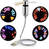 USB LED RGB Programmable Fan, SAYTAY Mini Flexible USB Gooseneck Programmable Fan for PC Laptop Notebook Desktops (New…