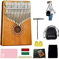 Kalimba - Piano para pulgar de 17 teclas, de caoba de alta calidad con kit de estudio y bolsa portátil de martillo de…