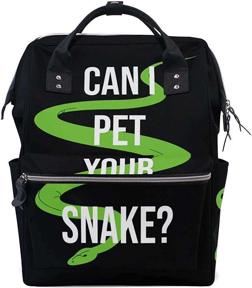 Bolsa De Pañales Mochila De Serpiente Para Mascotas Para Mamá/Papá,Mochila De Viaje Multifunción Abierta De Ancho Bolsas De Pañales