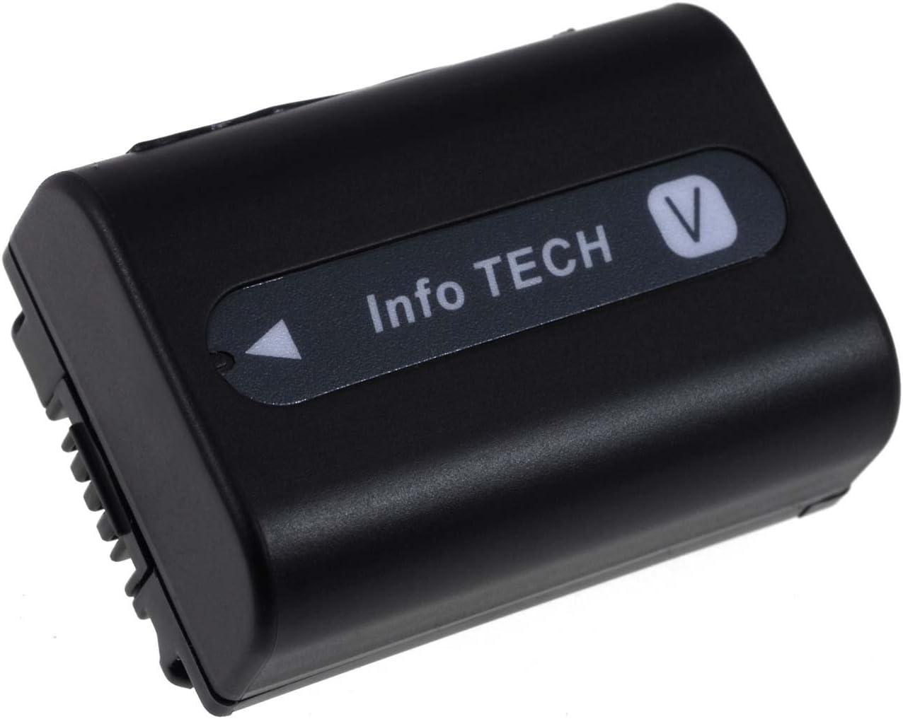noir batterie compatible pour Sony HDR-CX250E 980mAh 6,8V Li-Ion 6,7Wh