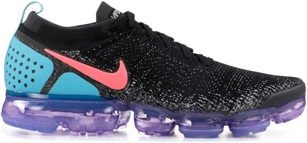 Nike Air Vapormax Flyknit 2, Chaussures de Running Compétition Homme Multicolore Black Hot Punch Whit 003