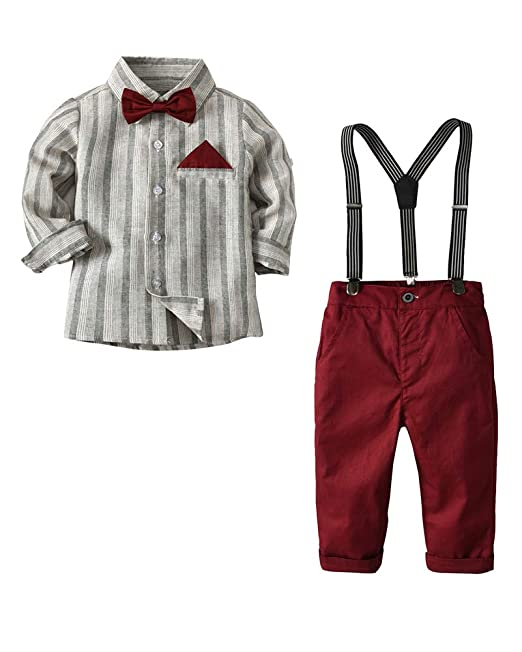 Conjunto de para Bebé Niño Camisa de Manga Larga + Corbata ...