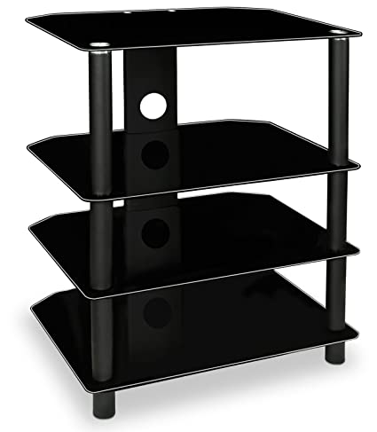 amazon com mount it av component media stand audio tower and rh amazon com Wall Mount Av Shelves Wall Mounted TV and Components