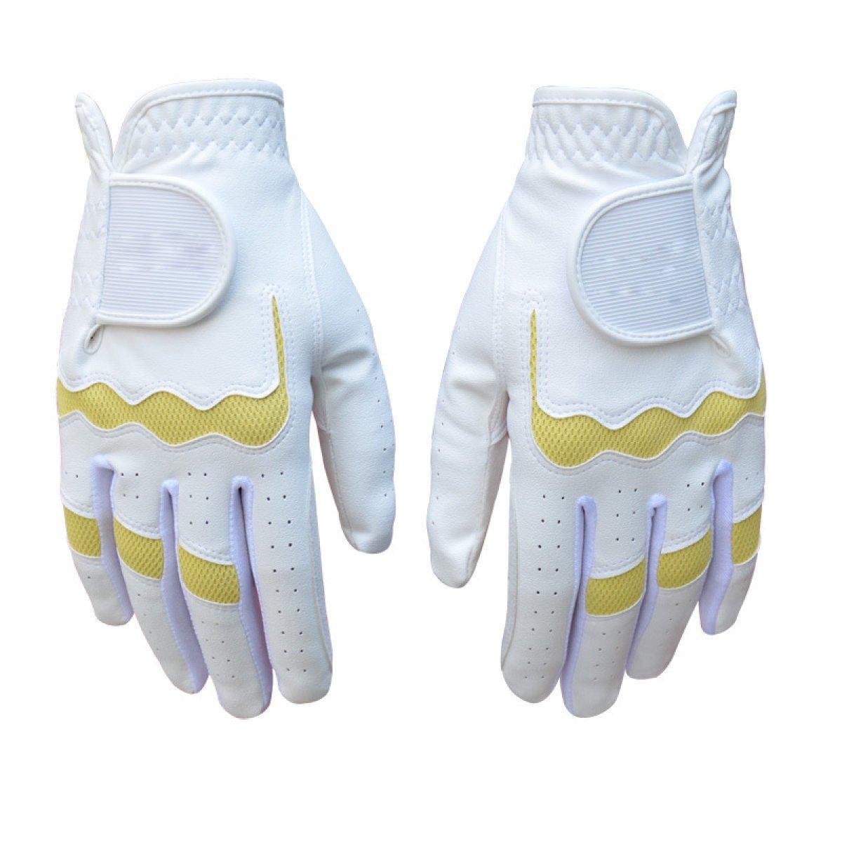 BFMEI Weibliche Modelle Verschleißfesten Saugfähige Rutschfeste Außenhandschuh,WeißGelb-19