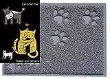"""Jon Senkwok Cat litter mat beige small size for little pet 16""""L 13""""W"""