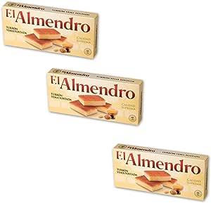 El Almendro - Pack incluye 3 Turron de Yema Tostada 200gr Calidad suprema: Amazon.es: Alimentación y bebidas