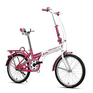 XQ Bicicleta Plegable Blanca Y Roja De F311 Adulto 20 Pulgadas Bicicleta Ultraligera De Los Estudiantes