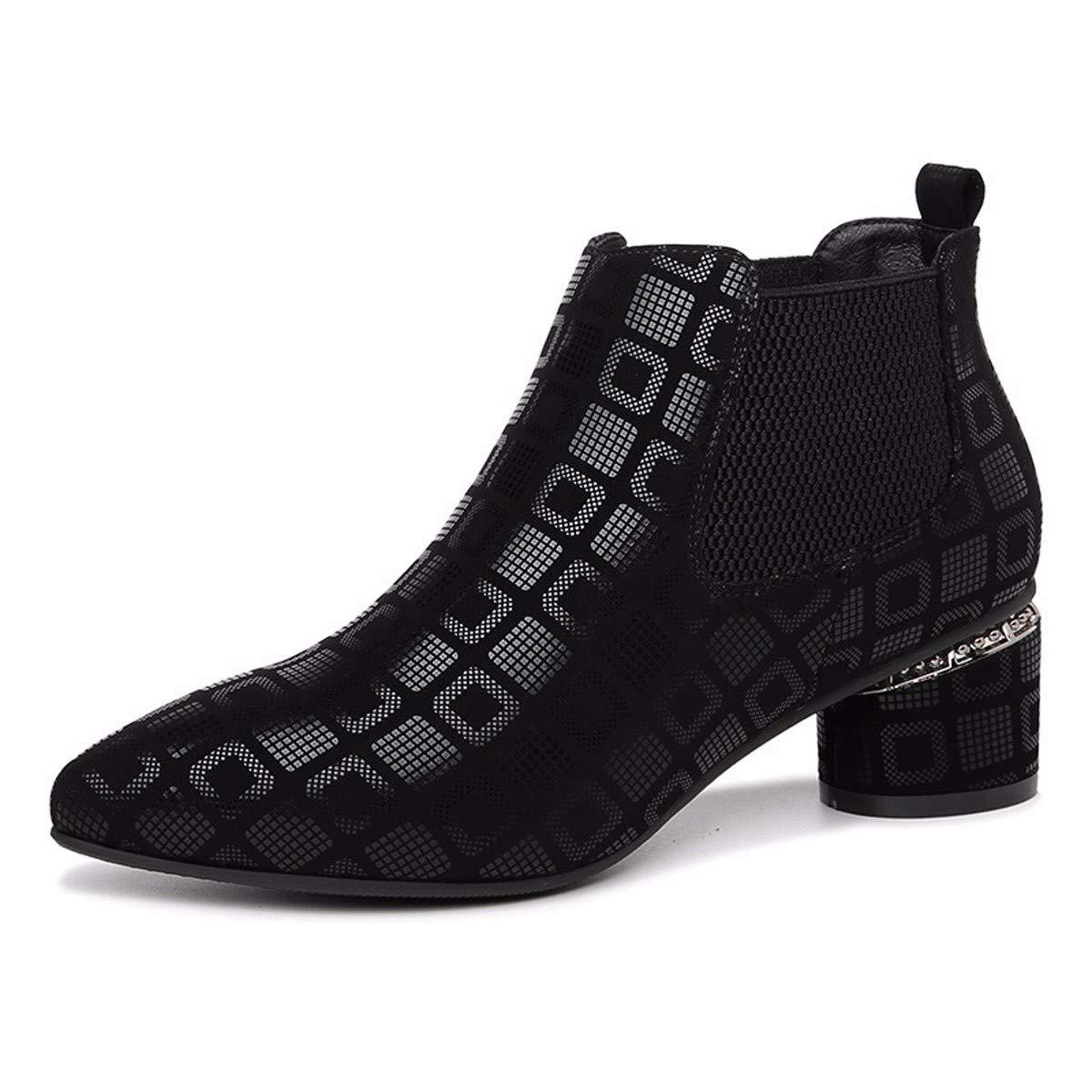 KPHY Kaschmir Damenschuhe Kurz Darauf Stiefel Mittlere Heels Dicke Schuhe Kaschmir KPHY Meine Damen Ärmel. 0ed0e2