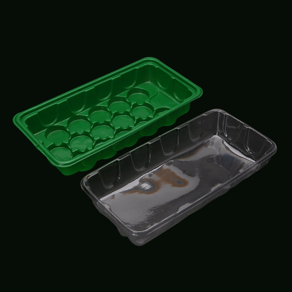 Simdoc Plastic Nursery Pots 15 Holes Plant Seeding Tray Sprout Plate Garden Case Box with Lid