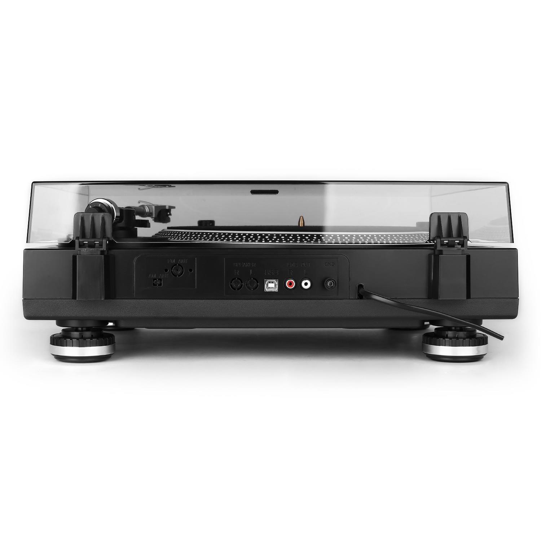 Auna-TT 1201-USB USB-Tocadiscos con luz LED, color negro: Amazon ...
