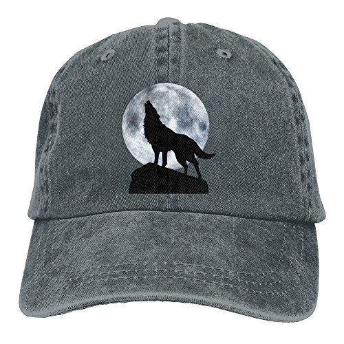 Dogquxio The Wolf Is Howling Under The Full Moon Denim Baseball Caps Hat Adjustable Cotton Sport Strap Cap For Men Women - Tim Ford Glasses