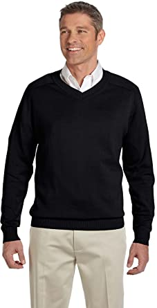 Amazon.com: Devon & Jones Men's V-Neck Sweater: Clothing