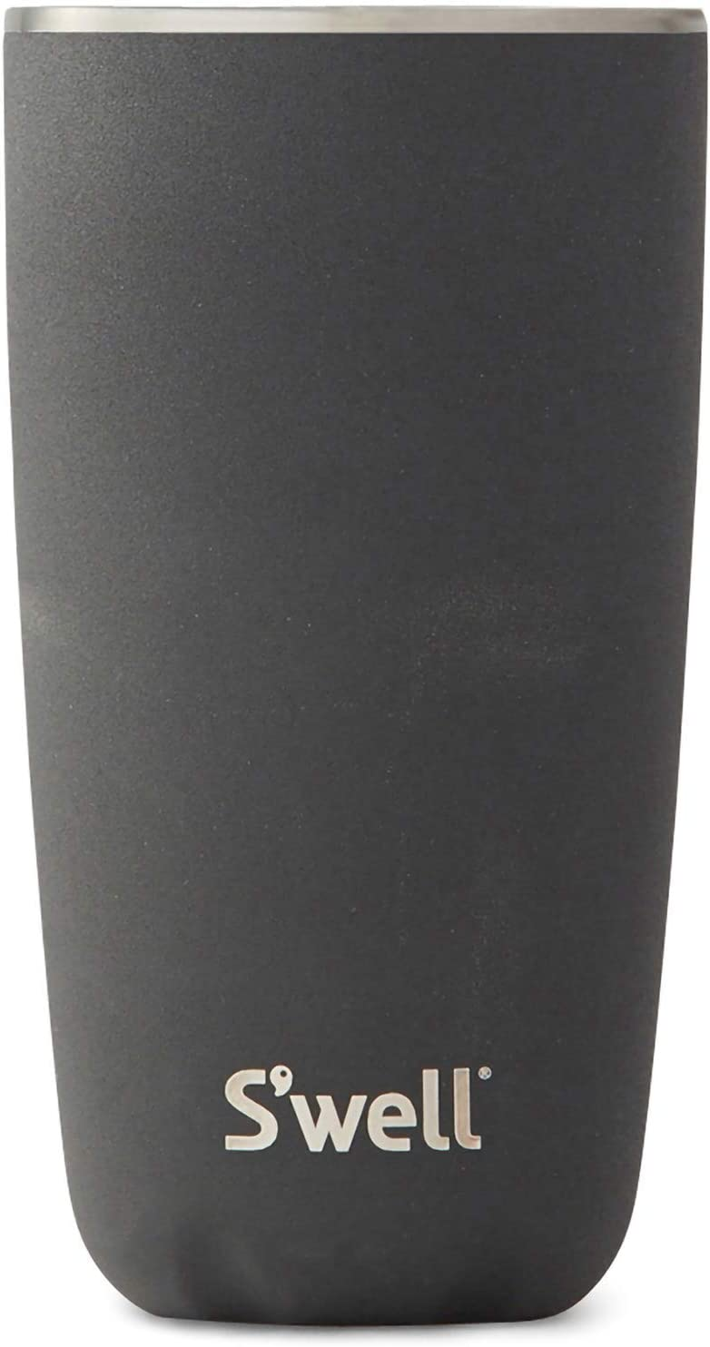 S'well Stainless Steel Tumbler Triple-Layered Vacuum-Insulated Containers Keeps Drinks Cold for 17 Hours and Hot for 4 with No Condensation - BPA Free Water Bottle, 18oz, Onyx
