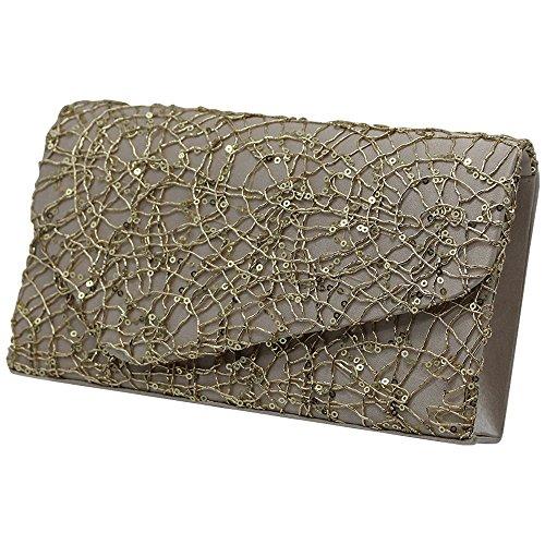 Evening Womens Bag Apricot Apricot Wedding Shoulder Clutch Purses Handbag Sequins Vintage Cckuu I87dI