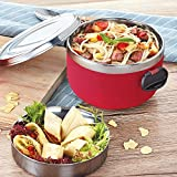 2 Tiers Lunch Box Stainless Steel Lunch Bowl Lunch Containers with Compartments Portable