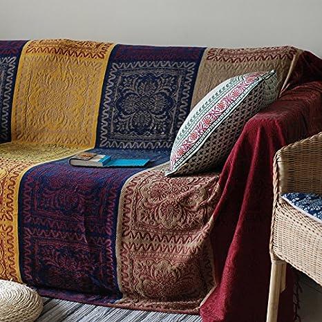 DADAO-Sofá Sofá tela cubren tres sofá manta toalla paño tapa deslizante completo,220*260cm,gules: Amazon.es: Hogar